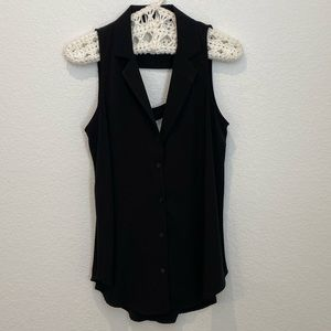 Lush Silky Black Top NWOT